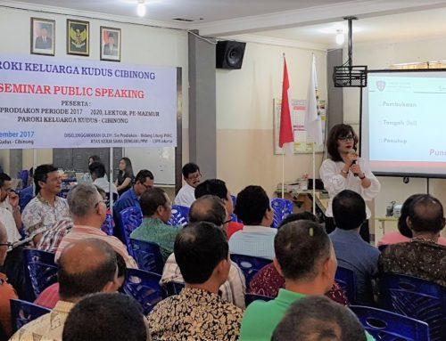 LSPR – Jakarta Lecturers Provide Public Speaking Training for Prodiakons, Prodiakon Candidates, Lectors, and Psalmist of Paroki Keluarga Kudus Cibinong, Bogor