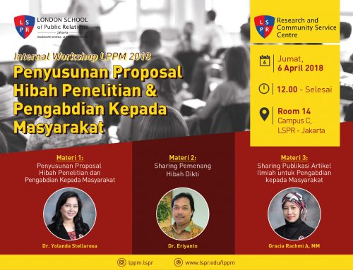 Internal Workshop LPPM 2018: Penyusunan Proposal Hibah Penelitian dan Pengabdian Kepada Masyarakat