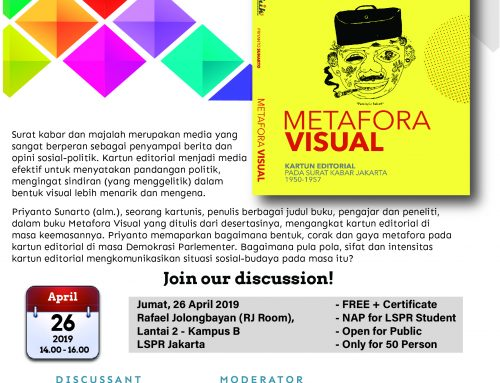 Monthly Discussion : Bedah Buku yang berjudul Metafora Visual,  karya dari Dr.  Priyanto Sunarto.