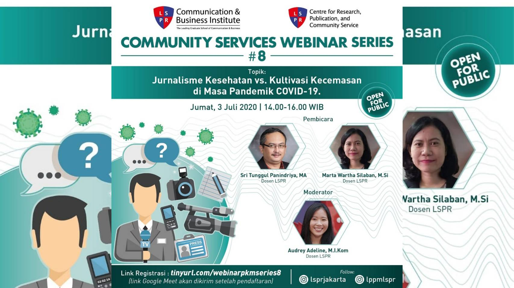 """[UPDATE] COMMUNITY SERVICES WEBINAR 8th SERIES """"The Journalism of Health Amidst the COVID – 19 Pandemic"""""""